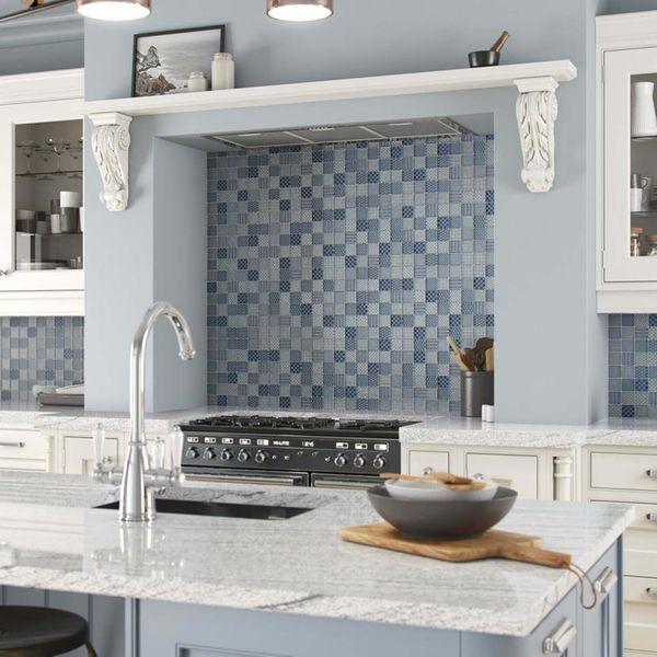 Bayeux Blue Glass Mosaic