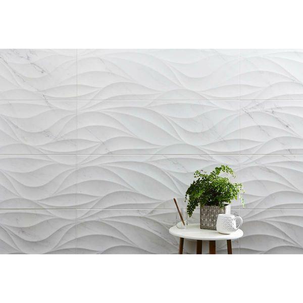 Bernini Marble Effect Wind Stripe Decor Wall Tiles