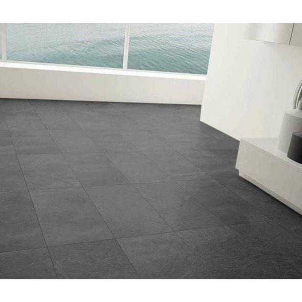 Impact Black Slate Effect Porcelain Tiles