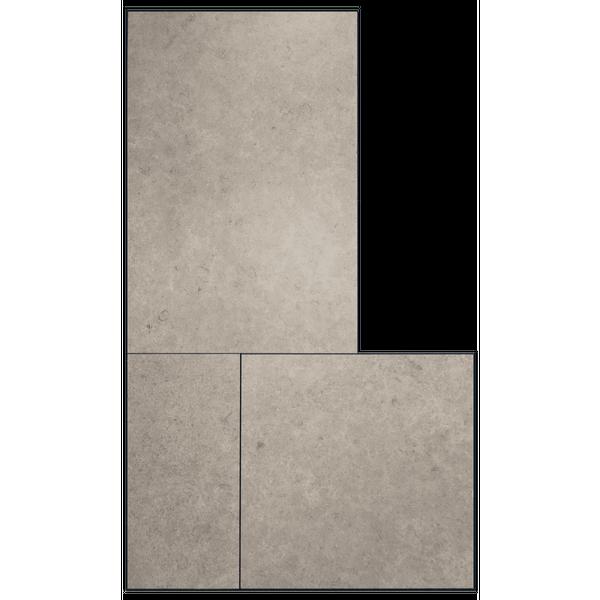Bowers Rock Grey Matt Porcelain Modular Tiles