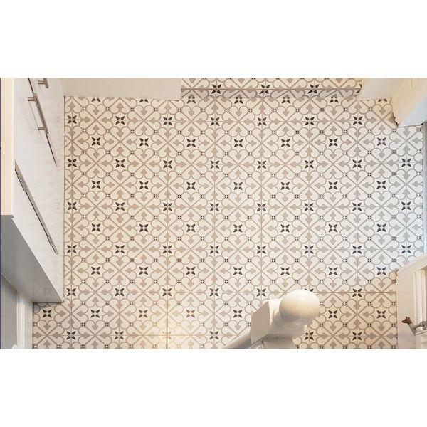 Brighton Grey Pattern Porcelain Floor Tiles