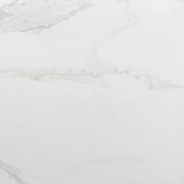 Carrara White Gloss Marble Effect  Porcelain Floor Tile