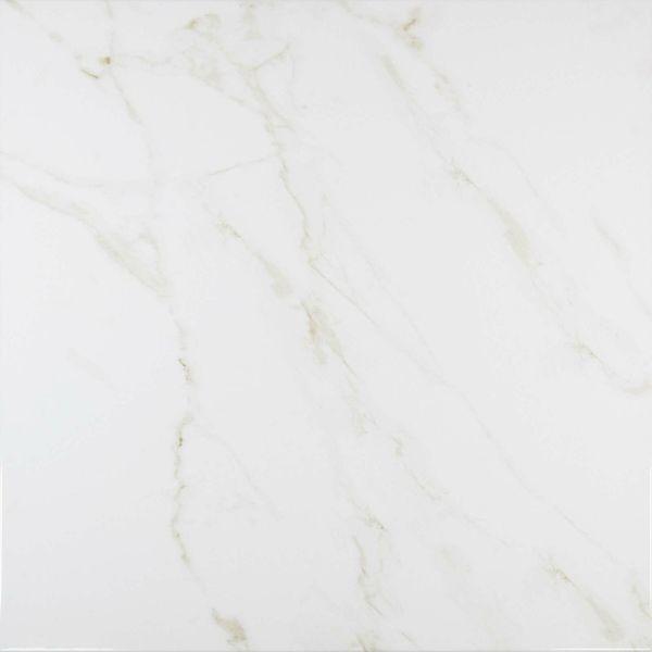 Carrara Gold Gloss Marble Effect Porcelain Floor Tile