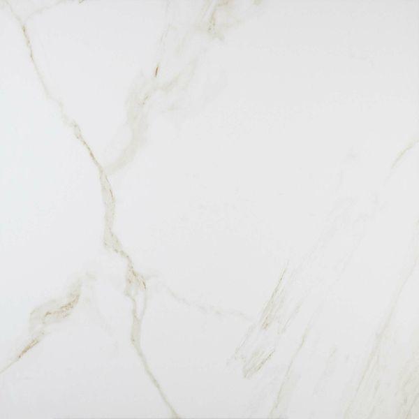 Carrara Gold Polished Marble Effect Porcelain Floor Tile