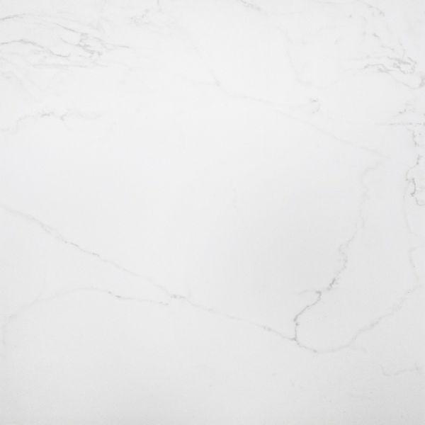 Carrara White Marble Effect Polished Floor Tile
