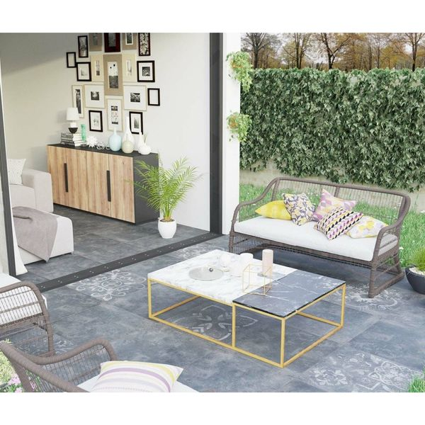 Concretia Black Decor Outdoor Slab Tiles