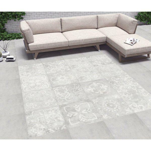 Concretia White Decor Outdoor Slab Tiles
