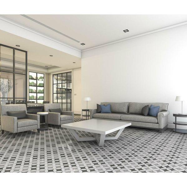 Hester Silver Floor Tiles