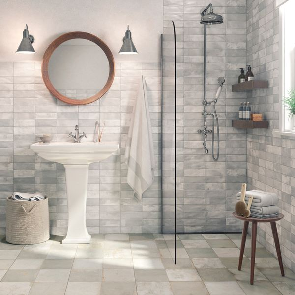 Clay Silver Wall Tile