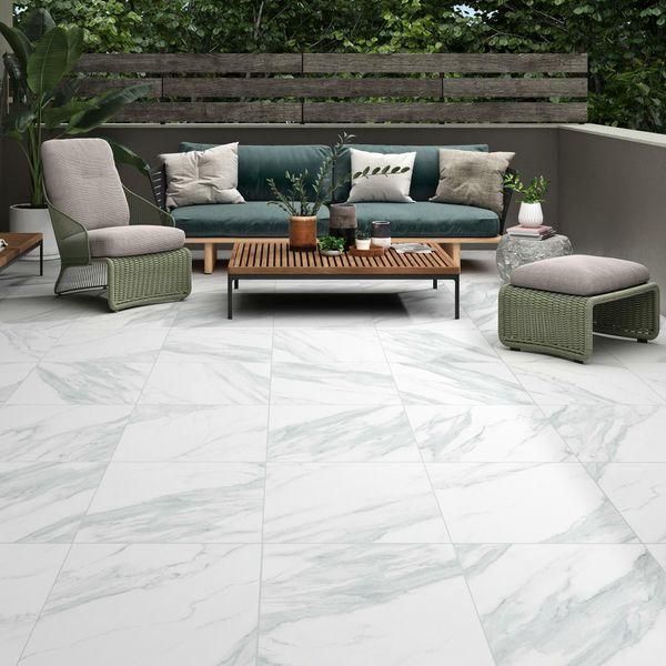 Carrara Marble White Outdoor Slab Tiles
