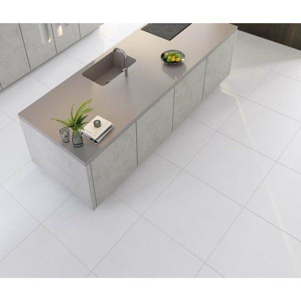 Cumulus White Matt Porcelain Floor Tile