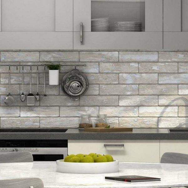 Decape Light Brick Wall And Floor Tiles