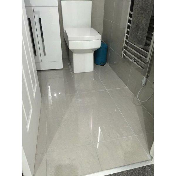 Doblo Light Grey Polished Porcelain Wall and Floor Tile
