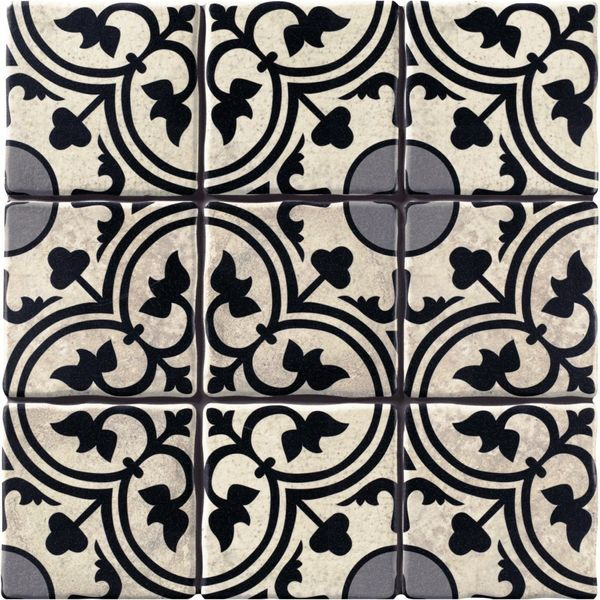 Duomo Centro Black Wall and Floor Tiles