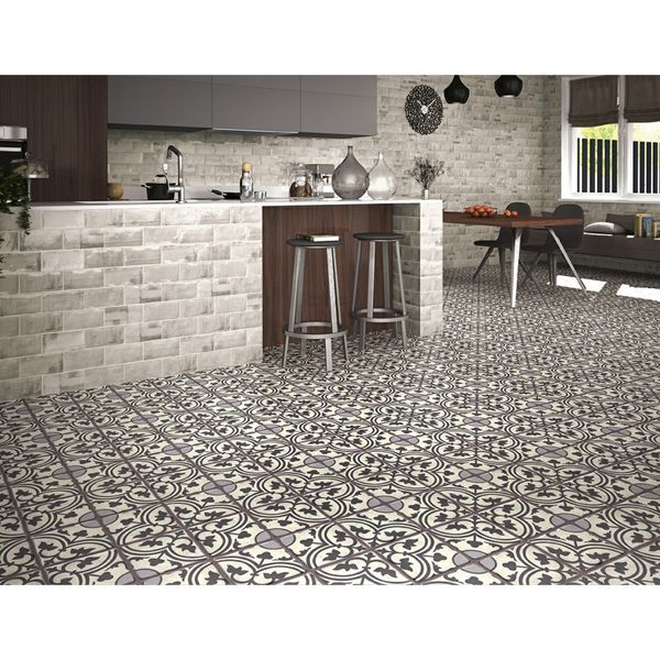 Duomo Centro Black Floor Tiles