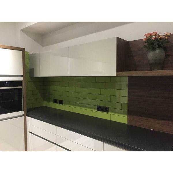 Linear Green Gloss Wall Tiles