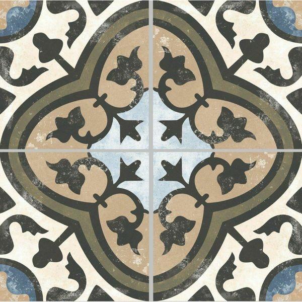 Evoque Carthusain Encaustic Effect Porcelain Floor Tile