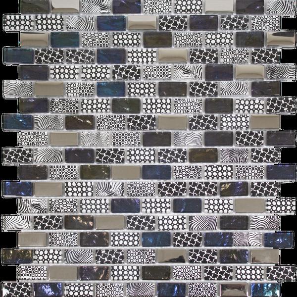 Georgia Ebony Multicolour Glass  Mosaic