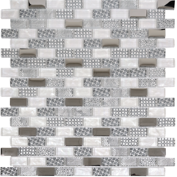 Georgia Smoke Grey Glass Mosaic