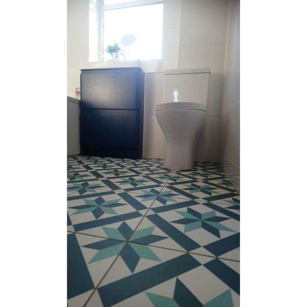 Hanoi Star Blue Floor Tiles