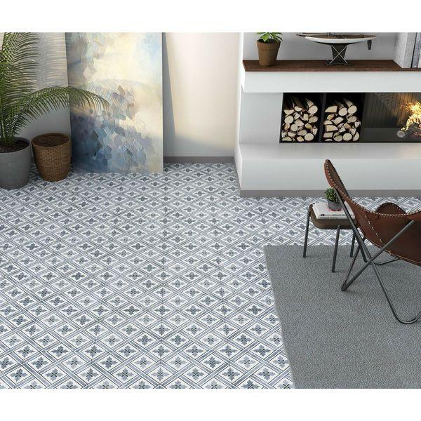Mrs Jones Dark Blue Pattern Wall and Floor Tile
