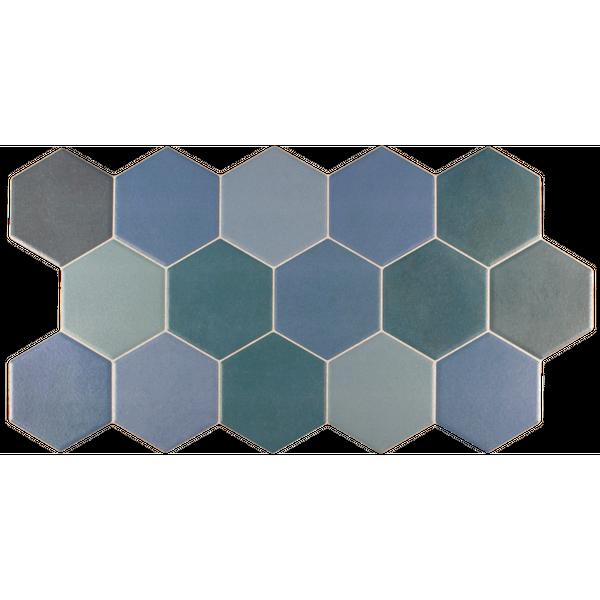 Hexagon Blue Mix Wall And Floor Tiles