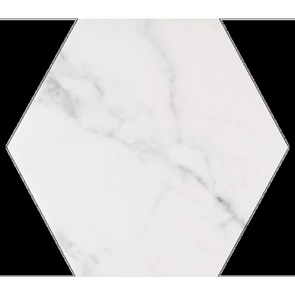 Hexagon Carrara Marble Effect Wall & Floor Tiles