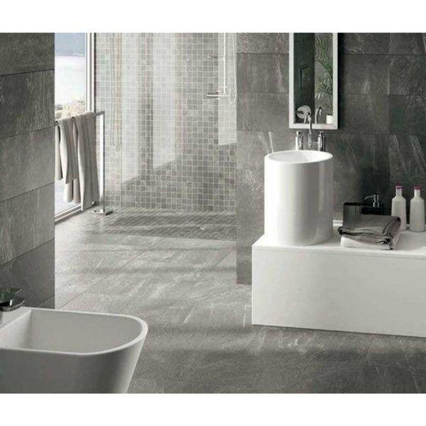 Impact Grey Slate Effect Porcelain Tiles