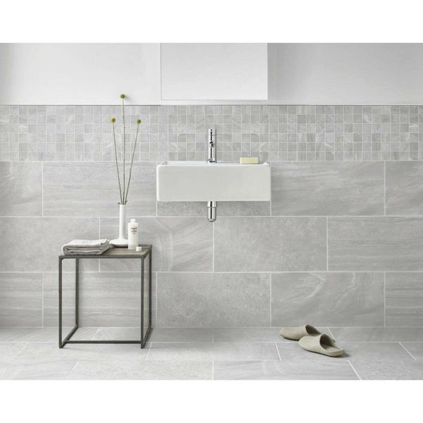 Inverno Grey Marble Effect  Mosaic