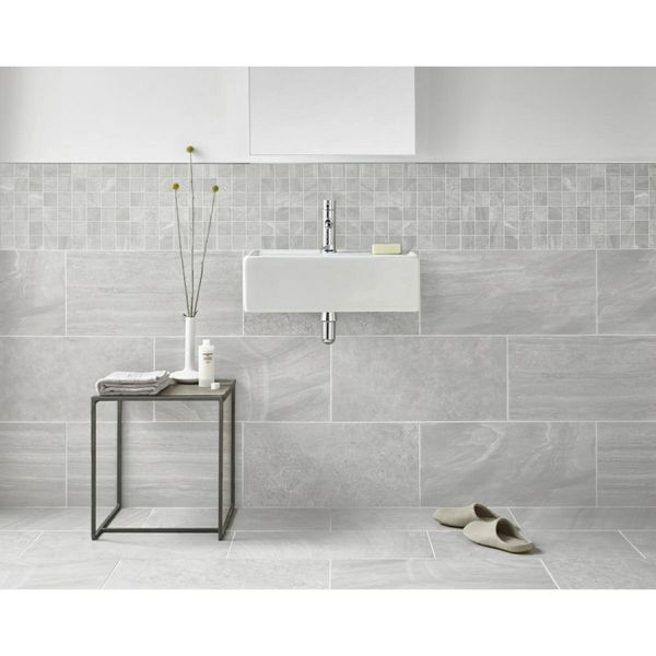 Inverno Grey Marble Effect Rectified Wall And Floor Tiles
