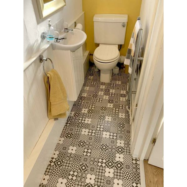 Gatsby Black and White Patchwork Wall and Floor Tiles