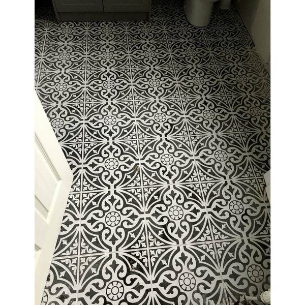 Devonstyle Black Pattern Wall and Floor Tile