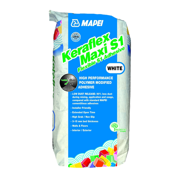 Keraflex Maxi S1 White Slow Setting Adhesive 20kg