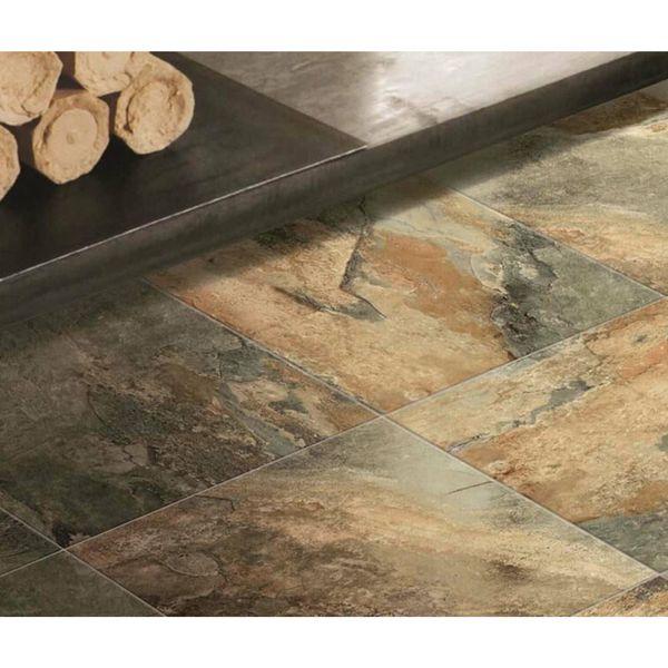 Keystone Brown Matte Slate Effect Wall and Floor Tile