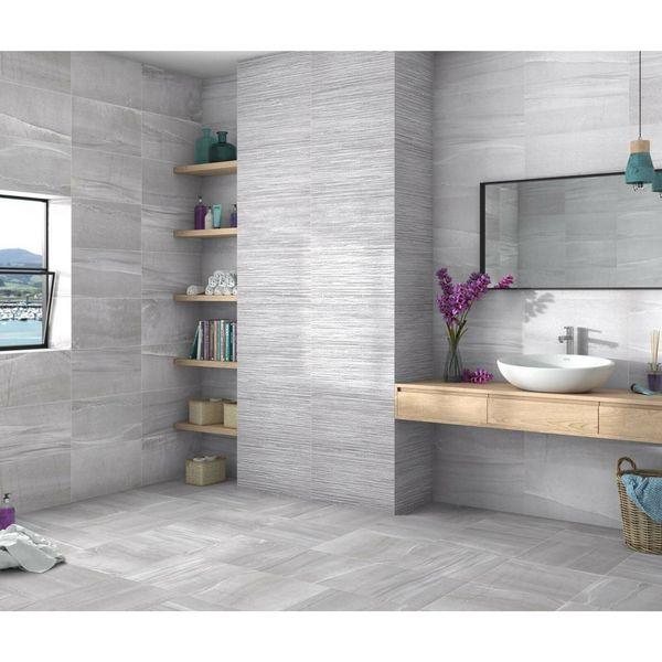 Kite Gloss Grey Wall Tile