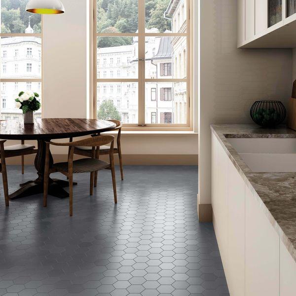 Kromatika Hexagon Grey Porcelain Wall & Floor Tile