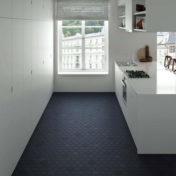 Kromatika Hexagon Naval Blue Wall & Floor Tile