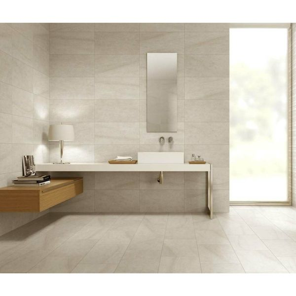 Limestone Matt Almond Floor and Wall Tiles