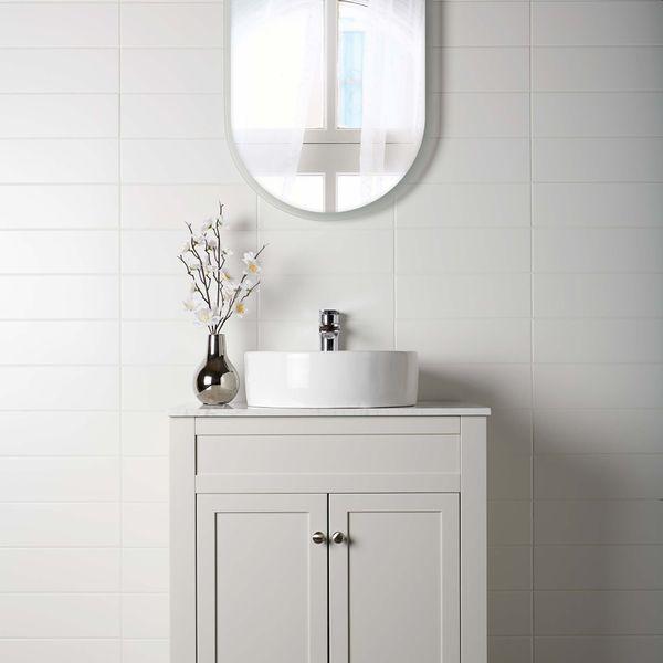 Linear White Matt Wall Tiles