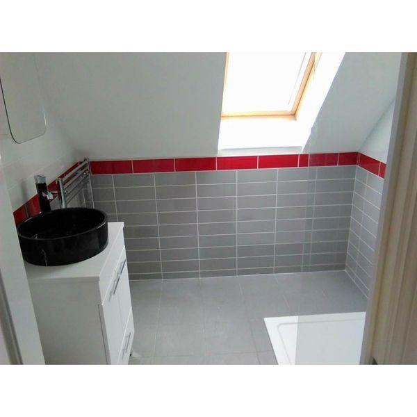 Linear Grey Gloss Wall Tiles