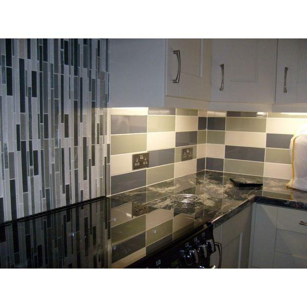 Linear Navy Blue Gloss Wall Tiles