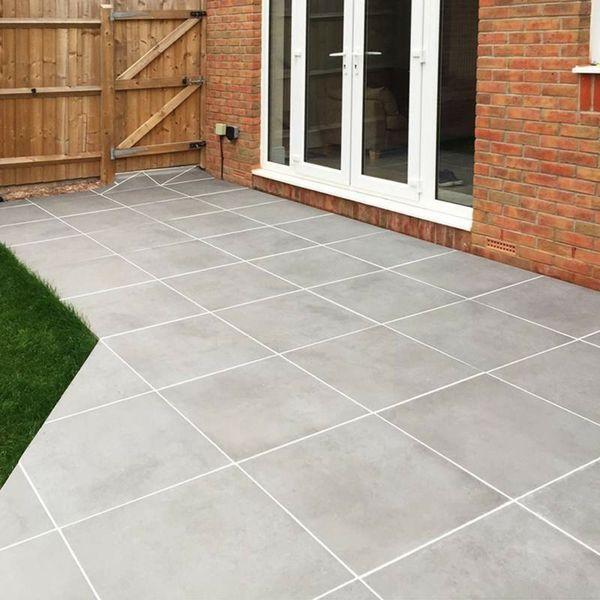 Luna Mid Grey Outdoor Matt Porcelain Slab Tiles