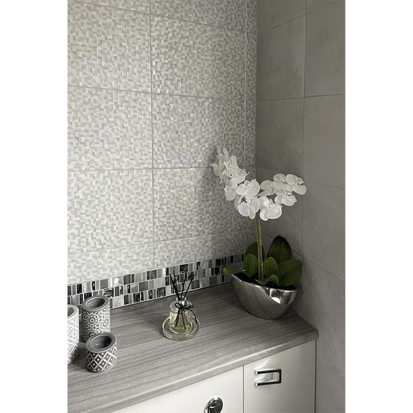 Talent White Decor Wall Tile