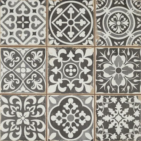 Faenza Rustic Grey Patterned Matt Tiles