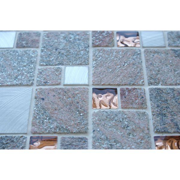 Comet Rose Square Stone Mosaic 300x300