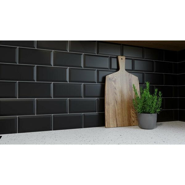 Metro Matt Black Wall Tiles