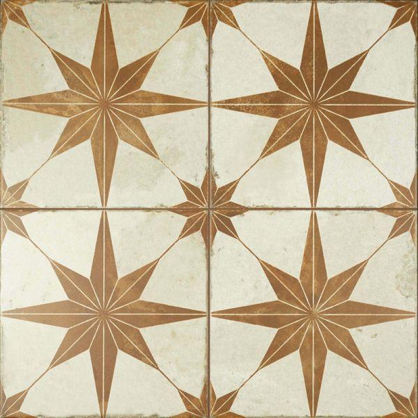 Metropolis Star Sienna Wall and Floor Tiles