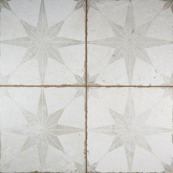 Metropolis Star Silver Wall and Floor Tiles