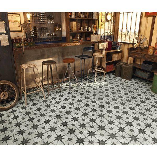 Metropolis Star Black Wall and Floor Tiles