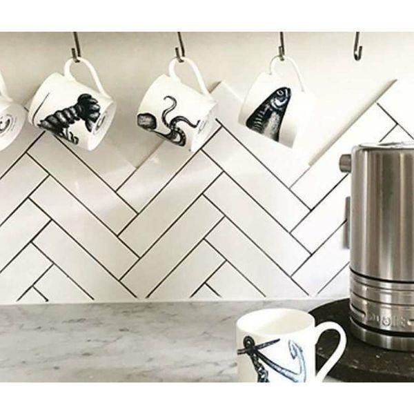 Microline White Matt Wall Tile
